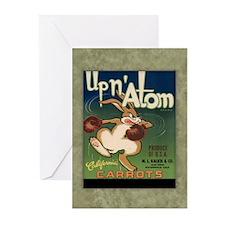 """Up N Atom"" Label Greeting Cards (10 Pack)"