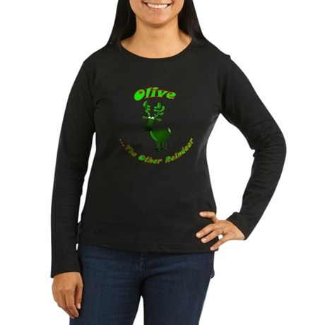 Olive The Other Reindeer Women's Long Sleeve Dark