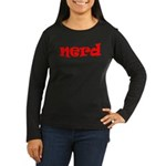 Nerd Women's Long Sleeve Dark T-Shirt