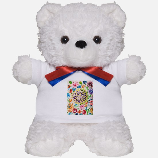 Picasso Flower Paper Teddy Bear