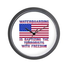 Waterboarding Wall Clock