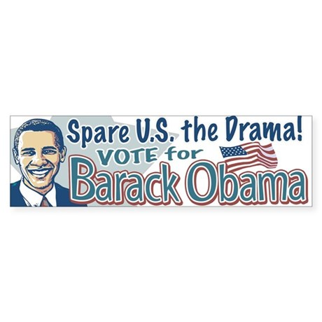 No Drama Vote Obama '08 Bumper Sticker