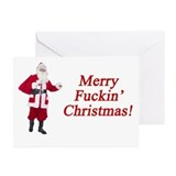 Inappropriate christmas Greeting Cards (10 Pack)