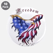 "American Freedom, 1776 3.5"" Button (10 pack)"