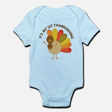 My 1st Thanksgiving Baby Turkey Body Suit