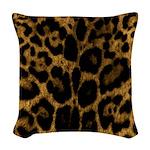 Jaguar Print Woven Throw Pillow