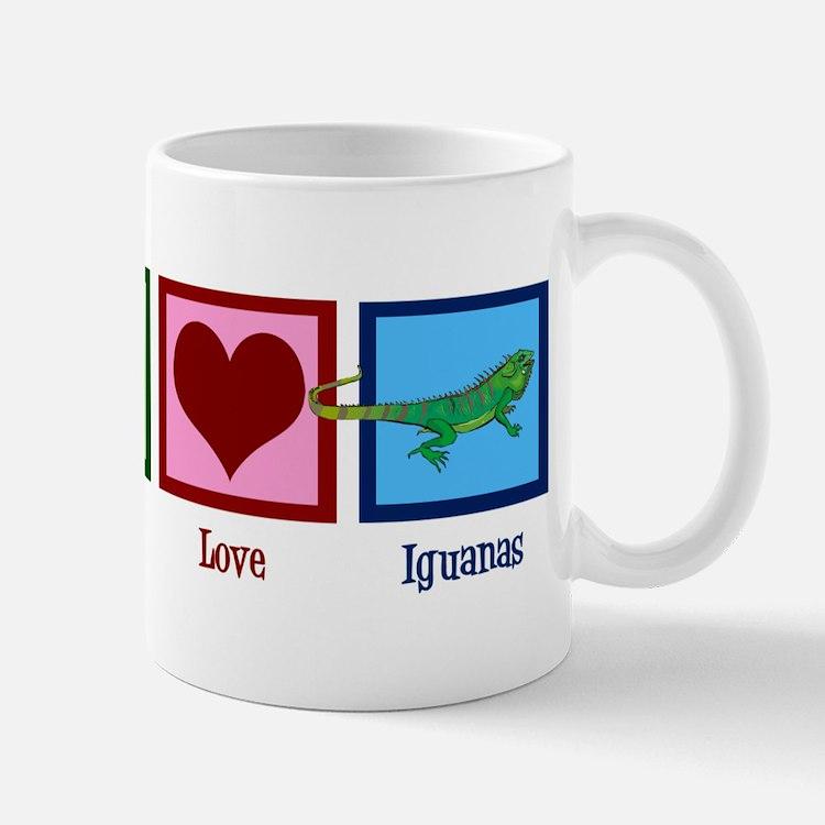 Peace Love Iguanas Mug