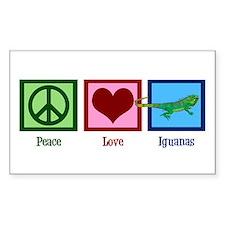Peace Love Iguanas Decal