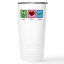 Peace Love Iguanas Travel Mug