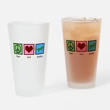 Peace Love Iguanas Drinking Glass