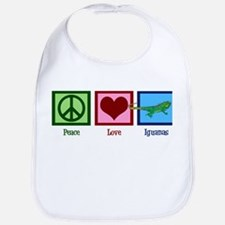Peace Love Iguanas Bib