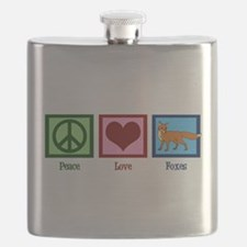 Peace Love Foxes Flask