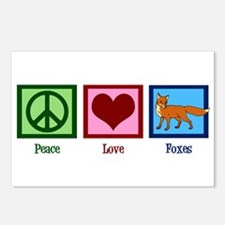 Peace Love Foxes Postcards (Package of 8)