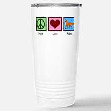 Peace Love Foxes Travel Mug
