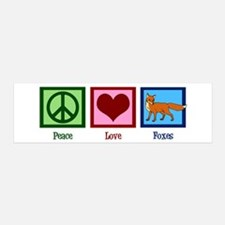 Peace Love Foxes Wall Decal