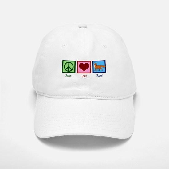 Peace Love Foxes Baseball Baseball Cap