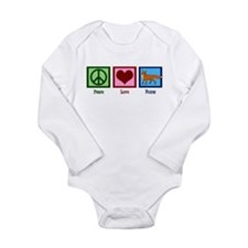 Peace Love Foxes Long Sleeve Infant Bodysuit