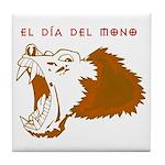 Monkey Day el mono Tile Coaster