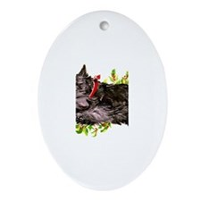 Great Leaping Scottie! Oval Ornament