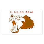 Monkey Day el mono Rectangle Sticker