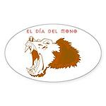Monkey Day el mono Oval Sticker