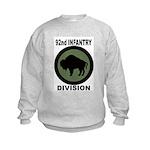 92ND INFANTRY DIVISION Kids Sweatshirt