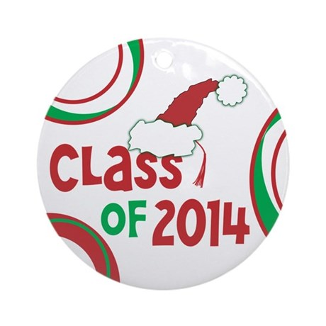 Class of 2014 Christmas Ornament (Round) w/Tassel