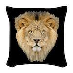 Lion Face Woven Throw Pillow