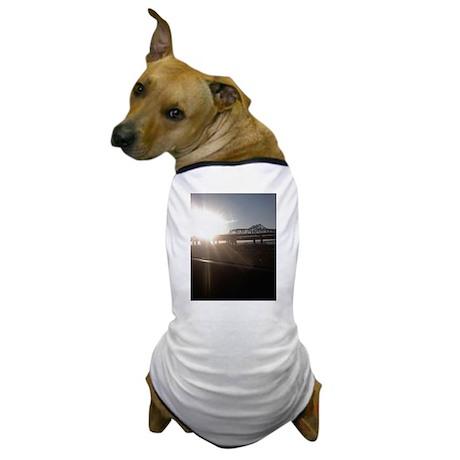 Sunset on the bridge Dog T-Shirt
