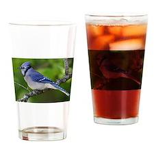 Happy Blue Jay Drinking Glass