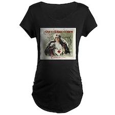Vintage Navy Nurse Corps 1908 Maternity T-Shirt