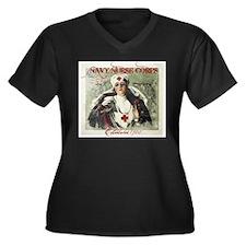 Vintage Navy Nurse Corps 1908 Plus Size T-Shirt