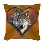 Wolf Heart Woven Throw Pillow