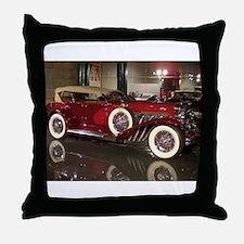 Big Red Car Throw Pillow