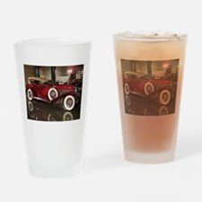 Big Red Car Drinking Glass