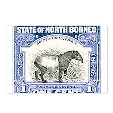 Antique 1904 North Borneo Tapir Postage Stamp Post