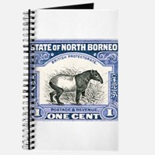 Antique 1904 North Borneo Tapir Postage Stamp Jour
