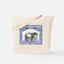 Antique 1904 North Borneo Tapir Postage Stamp Tote