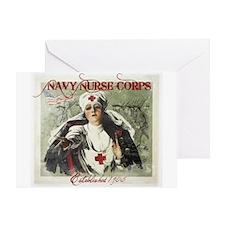Vintage Navy Nurse Corps 1908 Greeting Card