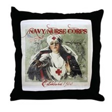 Vintage Navy Nurse Corps 1908 Throw Pillow