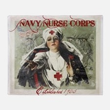 Vintage Navy Nurse Corps 1908 Throw Blanket