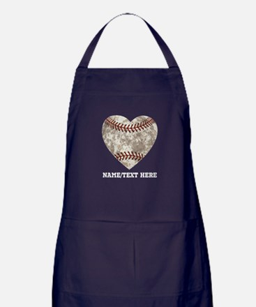 Baseball Love Personalized Apron (dark)