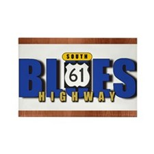 Blues Highway 61 Rectangle Magnet