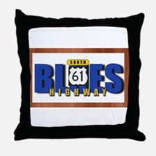 Blues Highway 61 Throw Pillow