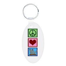 Peace Love Alpacas Keychains