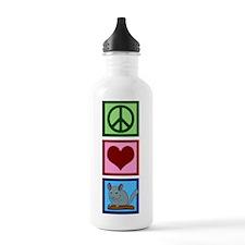 Peace Love Alpacas Water Bottle