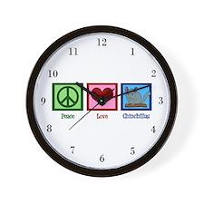 Peace Love Alpacas Wall Clock