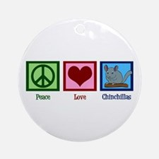 Peace Love Alpacas Ornament (Round)