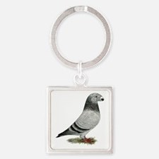 Show Racer Grizzle Pigeon Keychains