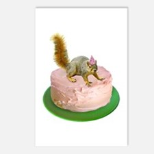 Squirrel on Cake Postcards (Package of 8)